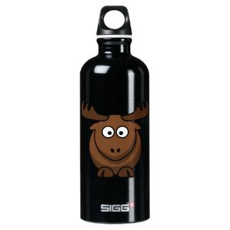 Funny Cartoon Moose Aluminum Water Bottle
