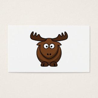 Funny Cartoon Moose Business Card