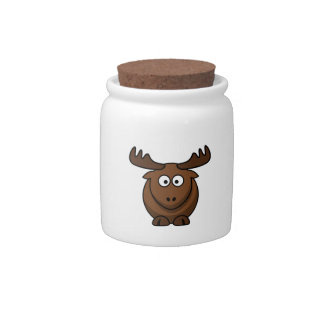 Funny Cartoon Moose Candy Dishes