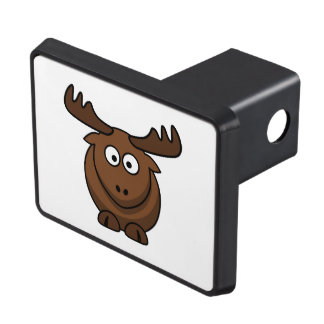 Funny Cartoon Moose Tow Hitch Cover