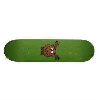 Funny Cartoon Moose with Green Background Custom Skateboard