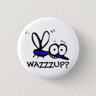 funny cartoon mosquito pinback button