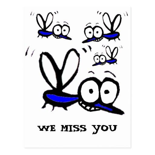 funny cartoon mosquito postcard