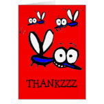 funny cartoon mosquito thank you card