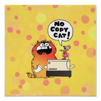 Funny Cartoon Mouse | Funny Mouse and Cat Poster