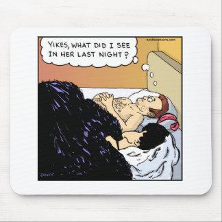 Funny Cartoon Mouse Pad- Old Hag Illusion Mouse Pad