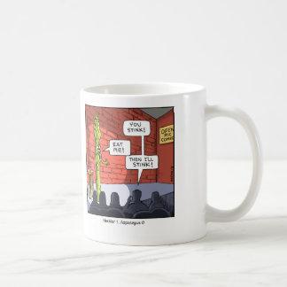 Funny Cartoon Mug- Asparagus Coffee Mug