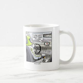 Funny Cartoon Mug- Race Car GPS Coffee Mug