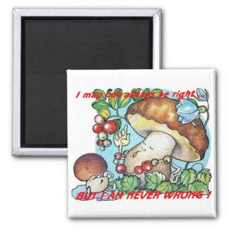 funny cartoon mushrooms mom kid 2 inch square magnet