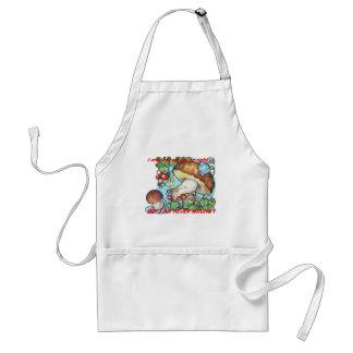 funny cartoon mushrooms mom kid adult apron