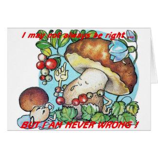 funny cartoon mushrooms mom kid card