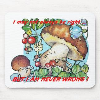 funny cartoon mushrooms mom kid mouse pad
