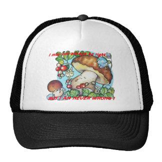 funny cartoon mushrooms mom kid trucker hat