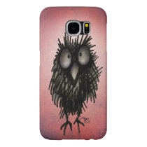 Funny Cartoon Night Owl on Pink Samsung Galaxy S6 Case