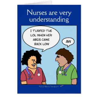 Funny Cartoon Nurses are Understanding Nurses Week Card