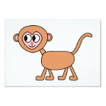 Funny Cartoon of a Monkey. Announcements