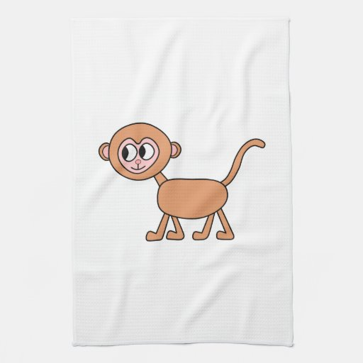 Funny Cartoon of a Monkey. Kitchen Towel