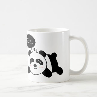 Funny Cartoon of Cute Sleeping Panda Coffee Mug