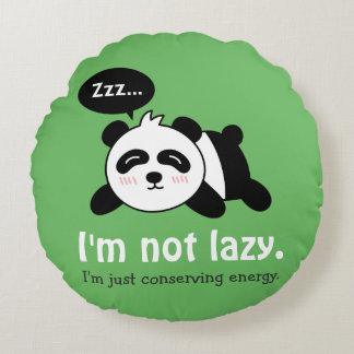 Funny Cartoon of Cute Sleeping Panda Round Pillow