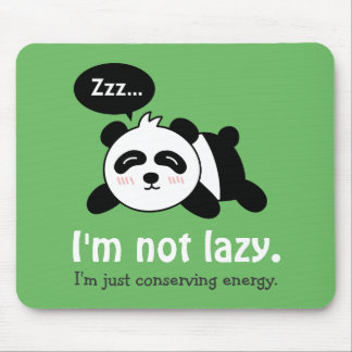 Funny Cartoon of Cute Sleeping Panda Mouse Pad
