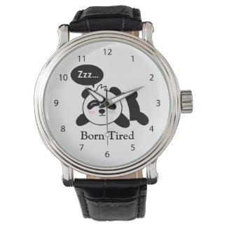 Funny Cartoon of Cute Sleeping Panda Watch