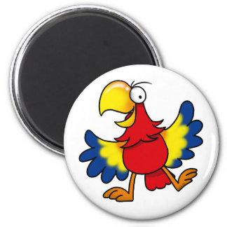 Funny cartoon parrot magnet