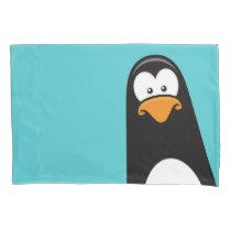Funny Cartoon Penguin Reversible Pillowcase