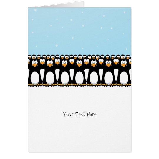 Funny Cartoon Penguins Card