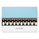 Funny Cartoon Penguins Greeting Cards