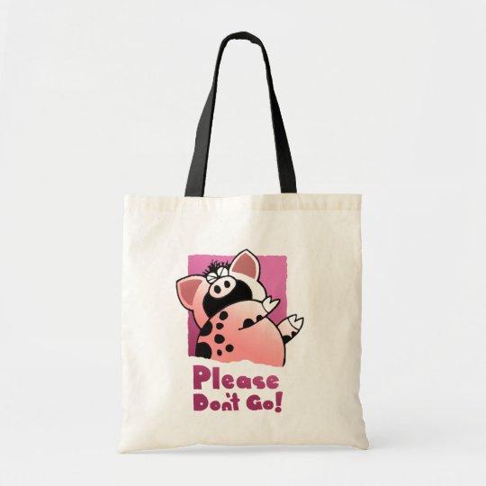 Funny Cartoon Pig / Cartoon Gift Tote Bag