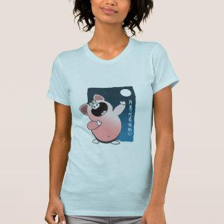 Funny Cartoon Pig Sing   Piggy Love Sick T Shirt