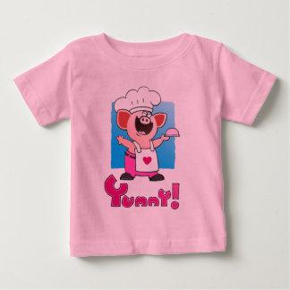 Funny Cartoon Piggy Chef  Shirt | Funny Chef T