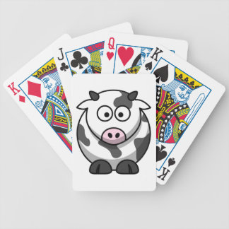 Funny Cartoon Pink Nose Round Cow Farm Animal Bicycle Playing Cards