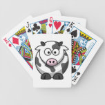 Funny Cartoon Pink Nose Round Cow Farm Animal Playing Cards