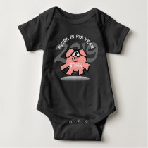 Funny Cartoon Pink Pig 2019 Personalized Baby B Baby Bodysuit