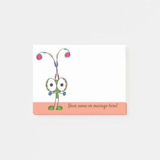 Funny Cartoon Post-it Notes | Add Your Name/Text