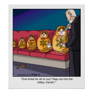 Funny Cartoon Poster- Nesting Dolls Poster