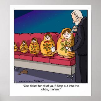 Funny Cartoon Poster- Nesting Dolls Poster