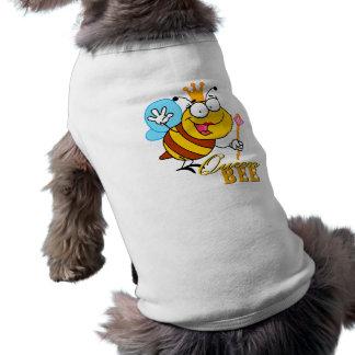 funny cartoon queen bee with text doggie tshirt