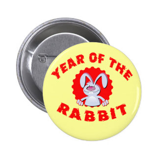 Funny Cartoon Rabbit Year of the Rabbit Gifts Button
