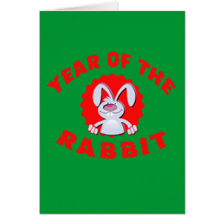Funny Cartoon Rabbit Year of the Rabbit Gifts Greeting Card