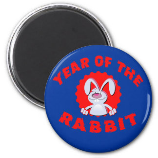 Funny Cartoon Rabbit Year of the Rabbit Gifts Magnet
