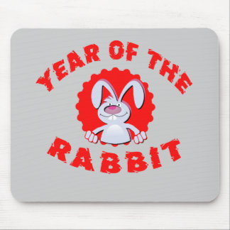 Funny Cartoon Rabbit Year of the Rabbit Gifts Mouse Pad