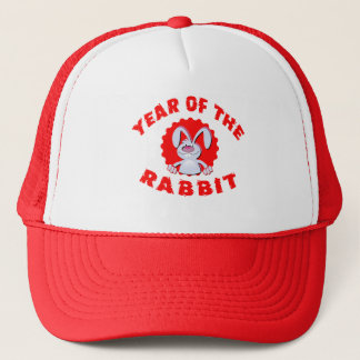 Funny Cartoon Rabbit Year of the Rabbit Gifts Trucker Hat
