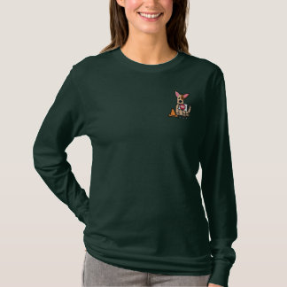 Funny Cartoon Rally-O Embroidered Long Sleeve T-Shirt