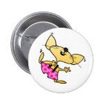 Funny Cartoon Rats Dance Pinback Button