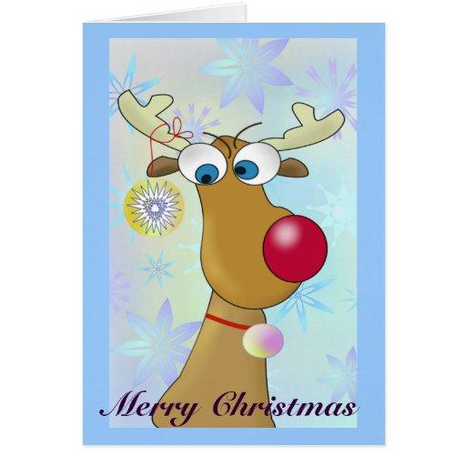 Funny cartoon reindeer christmas cards zazzle for Funny reindeer christmas cards