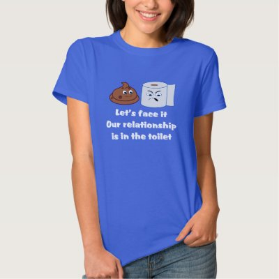 Funny Cartoon - Relationship Is In The Toilet Tshirts
