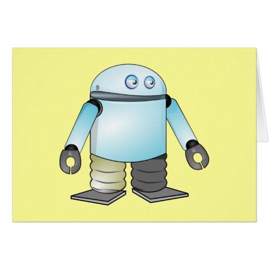 Funny Cartoon Robot Card