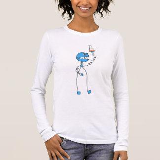 Funny Cartoon Robot Chemistry Womens Long Sleeve Long Sleeve T-Shirt
